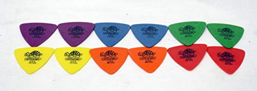 - Dunlop Tortex Triangle Guitar Picks Variety Pack; Contains 12 Picks