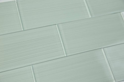 Mosaic Custom Tile (Light Mist Gray Hand Painted Glass Tile Hand Crafted and Custom Made. Perfect for kitchens and bathrooms, Sample)