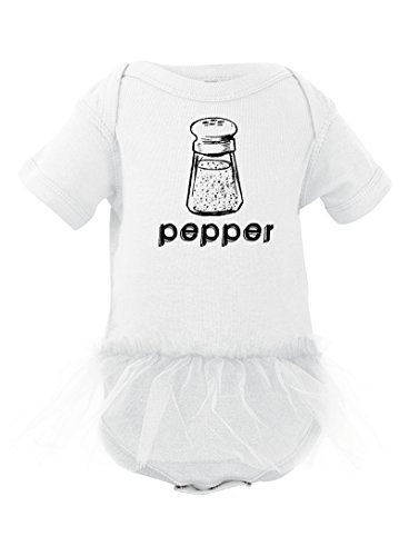 [Halloween Costume - Cute Twin Bodysuit With Pepper (Goes With Salt) Print With Tutu (Newborn,] (Halloween Costumes Ideas For Newborns)