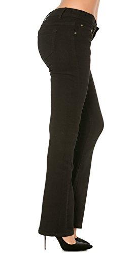 Jeans Mujer talla denim 44 3 pantalones straight skinny bootcut vaqueros Bootcut 34 a o slim 1fg0q1