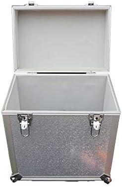 Estuche de transporte de almacenamiento de registr CD Caja de almacenamiento del disco de vinilo LP de almacenamiento del álbum Box for Mediateca organización y almacenamiento Regalo para la música en: Amazon.es: