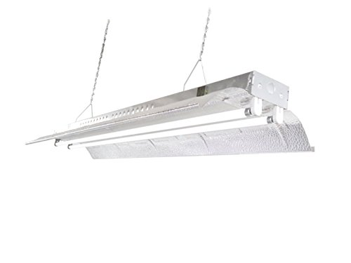 T5 HO Grow Light - 4 FT 2 Lamps - DL842 Fluorescent Hydroponic Indoor Fixture Bloom Veg Daisy Chain with Bulbs by DuroLux