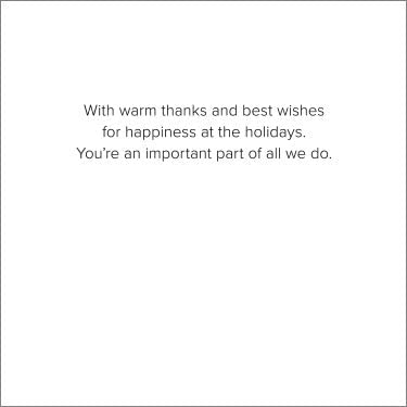 Hallmark Business Holiday Cards for Employees Wintry Forest Wishes Pack of 25 Greeting Cards