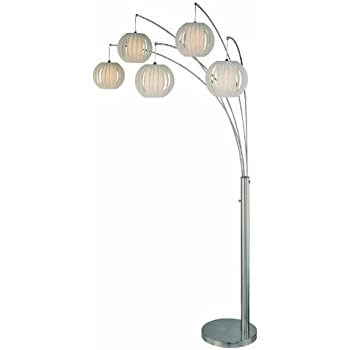 Lite Source Lsf 8872ps Wht Deion 5 Light Arch Floor Lamp