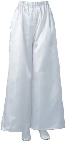 よさこい衣装 ツイルフレアパンツ(白) 【男女兼用】 M/Lサイズ [20632]