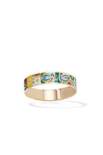 Enamel Bracelet Cuff Bangle Multicolor Abstract Wristband Enameled Women Jewelry (light pink, green, (Multi Color Enamel Bracelet)