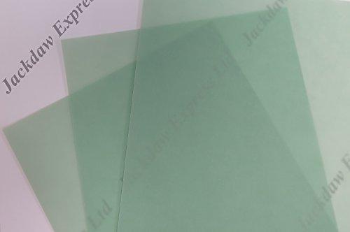 10 x Vellum Translucent Paper A4 200gsm Pastel Green JLH28 Jackdaw Express