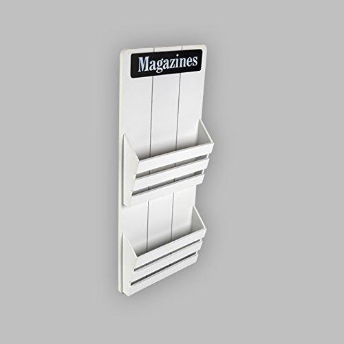 MAGAZINES Zeitungsständer Zeitungshalter Magazinhalter Magazinständer Holz (Weiß)