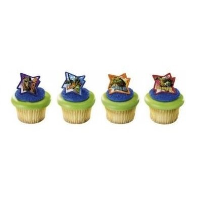 DecoPac Teenage Mutant Ninja Turtles Cupcake Rings