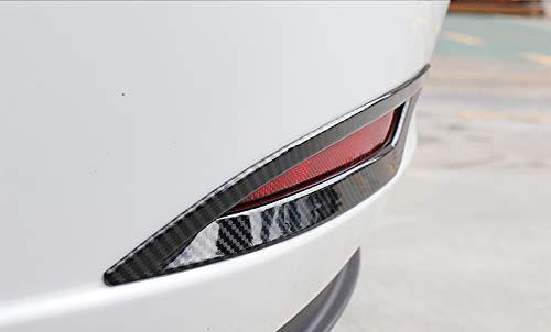 HIGH FLYING per Tesla Model 3 2017 2018 2019 Esterno Cornici dei Retronebbia Plastica ABS 2 Pezzi