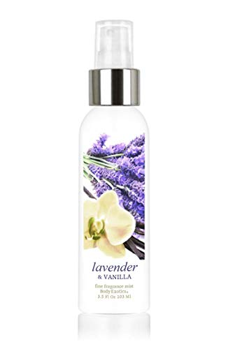 - Lavender & Vanilla Fine Fragrance Cologne Mist by Body Exotics 3.5 Fl Oz 103 Ml ~ a Lush Blend of French Lavender and Creamy Vanilla