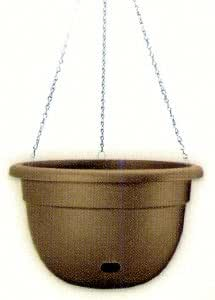 Allied Precision EasyCare M0400-053 Mexico Hanging Planter with Galvanized Metal Hanger, 12-Inch, Olivewood