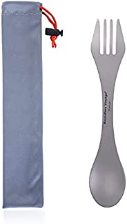 Boundless Voyage Titanium Spoon Fork Multifunction Ultralight Cutlery with Storage Pouch only 0.75oz