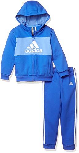 adidas I Logo Full Zip Hooded Jogger Fleece Chandal, Unisex Niños ...