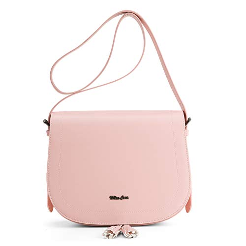 Miss CeCe Women's Saddle Bag Purses Crossbody Shoulder Bag with Flap Top & Tassel - Shoulder Flap Bag