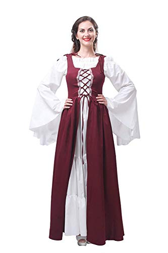 Bar Sirviendo Moda A Larga Gc204d Retro Marca Camarera Mode Criada Manga Las Largos Elegante Vestidos La Vestido Fiesta Tradicionales De Cerveza Medieval Mujeres qORv7v