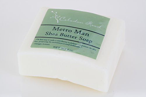 Celadon Road Metro Man Bar Soap - Organic and All Natural Ingredients and Essential Oils - Sulfate and Paraben Free - Best Men's Soap - 6oz - Made in - Sport Men Tiffany For