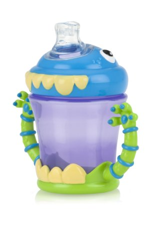 Nuby Two-Handle iMonster No-Spill Super Spout Cup, 7 Ounce (Spill 7 Ounce Cup)