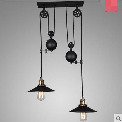 - CLG-FLY Three Head Chandelier Country Restaurant Bar Mahjong Lamp Three Head Pendant Lamp Double Headed Lenses Are Not Included