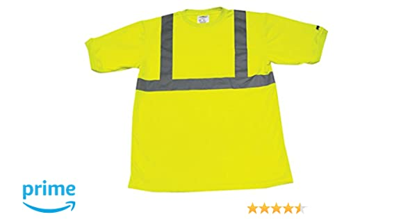 Orange Ironwear 1204-O-TP-3-LG ANSI Class 3 Polyester Long Sleeve Crew Neck SAFETY Shirt with Pocket /& 2 Silver Reflective Tape Large