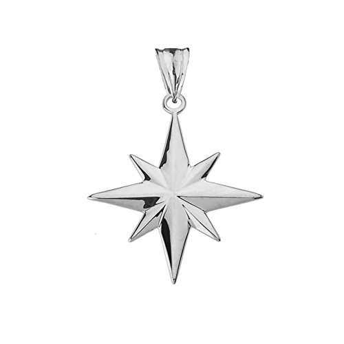 Enchanting North Star Charm Pendant in Sterling Silver