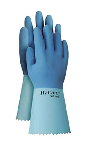 Ansell Size 7 Blue FL200 Flock Lined 20 mil Latex And Rubber - Pack of 144 by ANSELL (Image #1)