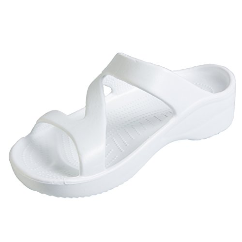 DAWGS Hounds Women's Z Sandals White Size 5-6 from DAWGS