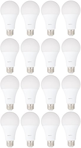 AmazonBasics 100 Watt Equivalent, Soft White, Non-Dimmable, 15,000 Hour Lifetime, A21 LED Light Bulb | 16-Pack