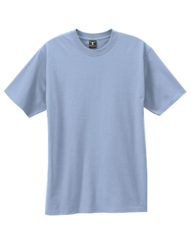 Light Blue Reversible T-shirt - By Hanes Beefy-T Adult Short-Sleeve T-Shirt_Light Blue_S