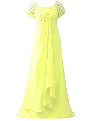 Maniche Abiti Tappo Abiti Madre Paillettes Convenzionali Giallo Cdress Perline Colore Promenade Di Sposa Della Di qtn8gAZx