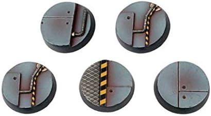 War World Gaming Industry of War - Peanas Sci-Fi Redondas Industriales x 5 (25mm) - 28mm Miniaturas Wargaming Batalla Modelismo Ejército Maqueta Diorama Minis: Amazon.es: Juguetes y juegos