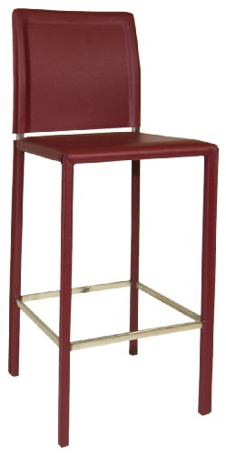 Moe's Home Collection Stallo Bar Stool, Red (Bar Cart Vancouver)