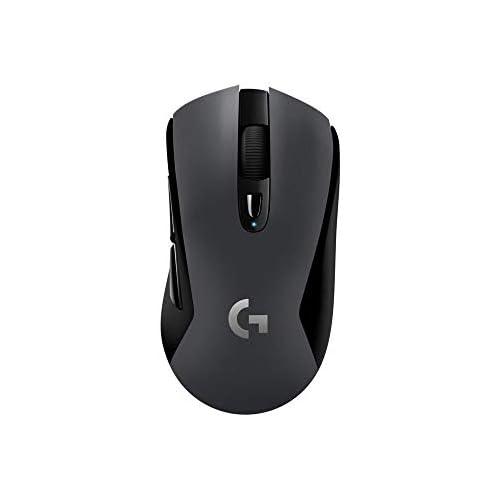 chollos oferta descuentos barato Logitech G603 LIGHTSPEED Ratón Gaming Inalámbrico Bluetooth o 2 4 GHz con Receptor USB Sensor HERO 12000 DPI 6 Botones Programables Memoria Integrada PC Mac Versión Alemana Negro