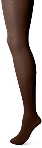 Hanes Silk Reflections Women's Matte Opaque Tights with Control Top, French Roast Brown, Small Silk Reflections Opaque Tights