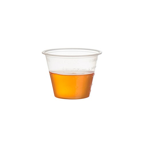 Crystalware Plastic Medicine Cups 1 oz. Clear, 100 Cups