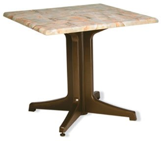 Grosfillex Exterior Table Top 32'' square - 99841002