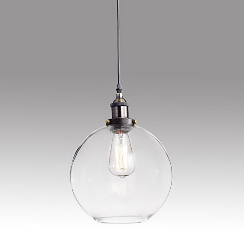 Truelite Industrial Clear Glass Globe Shade Pendant Light Mo