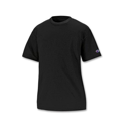 Champion Double Dry Cotton-Blend Kids' T Shirt_Black_M - Champion Thongs