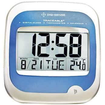 Cole-Parmer Wall-Mount Digital Clock/Calendar/Thermometer ()