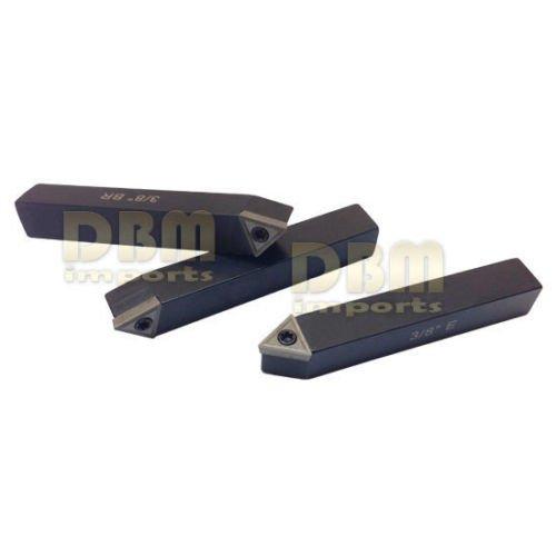 5 PC 3//8 Indexable Carbide Insert Turning Tool Bit Lathe Set