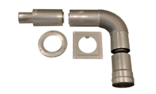 America Kitchen Lever Faucet Single (Noritz CVK-H2 Thick Wall Concentric Horizontal Vent Kit)