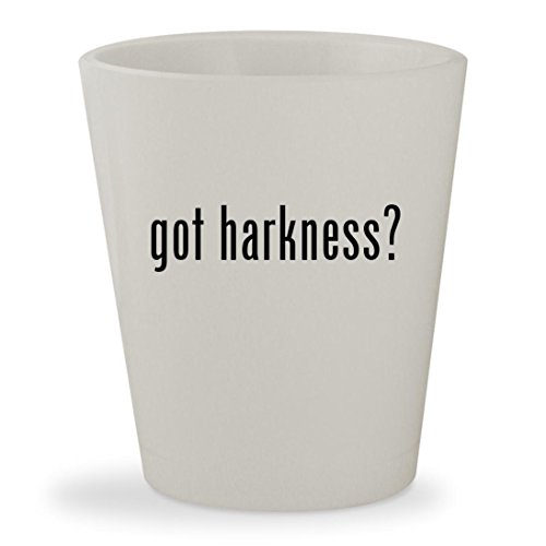 got harkness? - White Ceramic 1.5oz Shot Glass