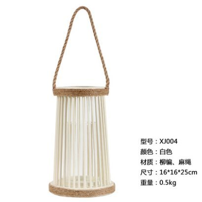 JinYiDian'Shop-Sepia Wicker and Rattan sisal Wooden candlesticks/Wind/Modern bar Meals in The Living Room Decorated Patio Creative,161625cm,Brown Ornaments