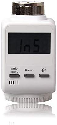 Blaupunkt Smart Home Thermostat TRV-S1 I Zubehör für die Q-Serie von Blaupunkt I Heizkörper Thermostat I Hausautomation I Automatisierung der Heizung per App, PC I 1 Stück I Weiß