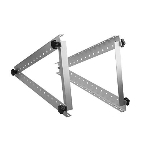LBG Products Adjustable Solar Panel Mount Brackets with Foldable Tilt Legs Support up to 150 Watt Solar Panel for Roof, RV,Boat and Any Flat Surface Off Grid