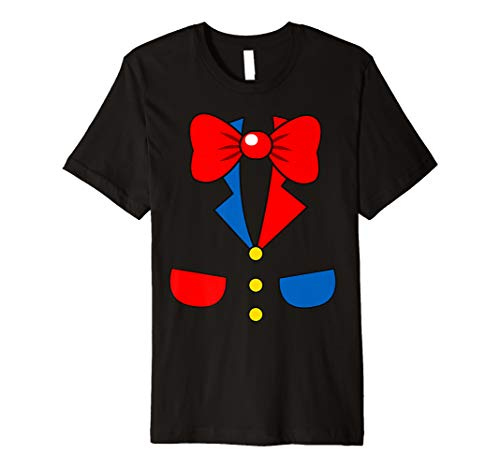 Funny Halloween Costumes Office (Funny Clown Halloween Costume School Office Night Party Tee Premium)