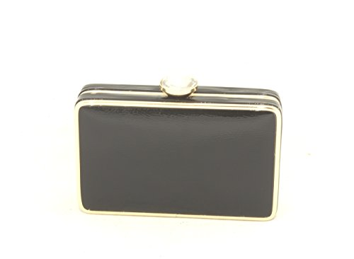 Bag Hombro Negro Diamond Correa El Clutch De Brillante Charol Embrague Para Bolsa Polso Away Con Pochette BxZPP