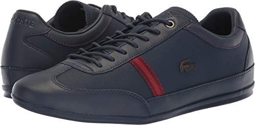 Lacoste Men's Misano 318 1 CAM Navy/Dark Red Casual Shoe 9 Men US