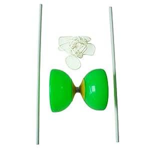 TOOGOO(R) Diabolo Verde Diseno de Bol Plastico con Palo