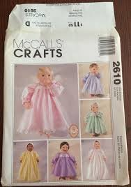 McCall's Crafts Pattern 2610 Clothes for 10